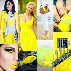 Neonowy żółty – odpowiedni dla: prawdziwej wiosny, czystej wiosny, czystej zimy, prawdziwej zimy. Być może dla intensywnej zimy.