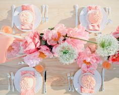 Pink & peach outdoor tablescape, rustic elegance, beach event, Ben Q, Bows & Arrows, After Yes Weddings