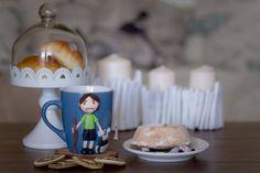 """tazza Mug """"Pellegrino di Santiago"""" in ceramica con decorazioni realizzate a mano di telasimona su Etsy"""