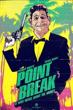 Point Break - film poster #90s #design #alternative #art