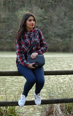 531191229 #kissmylook Camisa de cuadros || Plaid Shirt Blusas Cuadros, Camisas De  Cuadros Roja