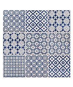Batik Patchwork Blue Tile
