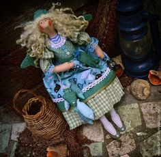 Куклы Тильды ручной работы. Ярмарка Мастеров - ручная работа. Купить Ассоль...Жизнь у моря..... Handmade. Морская волна, фея