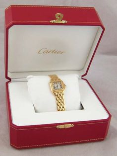 Cartier. A Swiss hallmarked 18 carat gold ladys Cartier wrist watch with full 18 carat gold bracelet, quartz movement, case numbered 86691111231, in original Cartier case with booklet #cartier #ukauctioneers