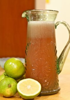 Strawberry-lima (Mexican sweet lime) agua fresca