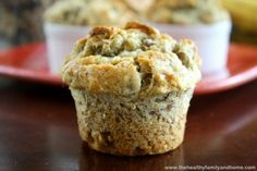 This is an easy dairy-free and egg-free muffin recipe that is full of delicious bananas and walnuts. It's fluffy and sweet and perfect for breakfast time.