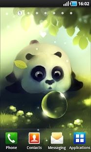 Panda Dampling is animated and interactive Live Wallpaper on your home screen! Within magical meadow little panda is trying to have a nap while being distracted by the swamp bubble! You can wake up and pet little panda dampling!