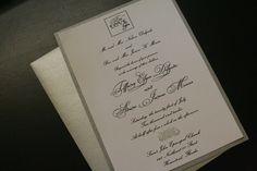 Simple metallic paper wedding invitation