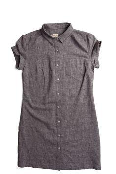 Loren Linen Thin Pinstripe Dress by @bridgeandburn