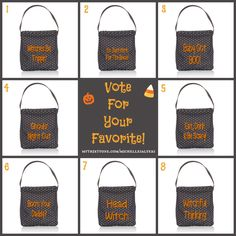 I love Halloween! These are just a few clever embroidery ideas. Which one is your favorite??
