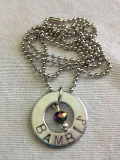 Great gifts! *Personalized Metal Charm Necklaces* by Stampped on Etsy, $15.00 *Music Note Stamp Available on all Metal Stamped items!