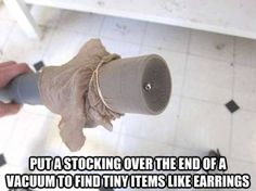 This is also a great way to find a lost, gas permeable contact lens without any damage to the lens (or your wallet if you'd had to buy a replacement contact).