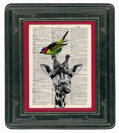 An Unlikely Friendship Original Animal Collage Print by AvantPrint, $9.00