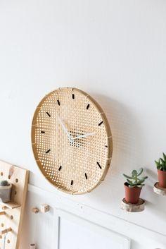Make a DIY Embroidered Basket Clock | Fall For DIY