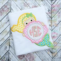 Hang to Dry Applique - HTD Mermaid with Shell, $3.99 (http://www.hangtodryapplique.com/htd-mermaid-with-shell/)