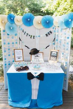 Baby Shower Decorations For Boys, Baby Shower Themes, Birthday Decorations, Baby Shower Parties, Baby Shower Gifts, Shower Ideas, Shower Party, Baby Boy Birthday Decoration, Little Man Birthday