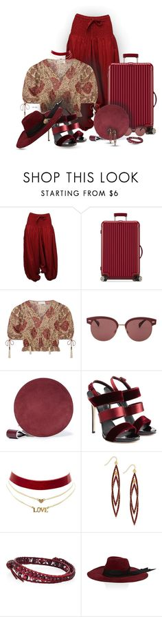 """On the road"" by ana-kreb ❤ liked on Polyvore featuring Coline, Rimowa, Zimmermann, Oliver Peoples, Diane Von Furstenberg, Giuseppe Zanotti, Charlotte Russe, INC International Concepts, Chan Luu and Littledoe"