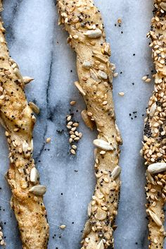 This breadstick has a particularly satisfying crunch. I used a combination of sesame, poppy and sunflower seeds, along with a teaspoon of nigella seeds for flavor. (Photo: Andrew Scrivani for The New York Times)