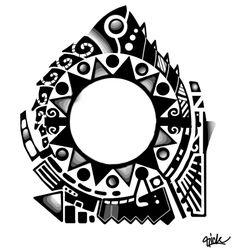 mahori/polynesian tattoo design by Rickzor1983