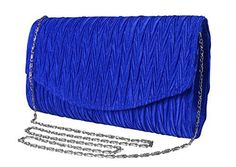 New Trending Clutch Bags: Peach Couture Womens Vintage Satin Pleated Envelope Evening Cocktail Wedding Party Handbag Clutch (Blue). Peach Couture Womens Vintage Satin Pleated Envelope Evening Cocktail Wedding Party Handbag Clutch (Blue)  Special Offer: $14.95  344 Reviews New Clutches by Peach Couture. Peach Couture is a registered trademark. FEATURES: The perfect evening piece with a touch of glimmer and sparkles,...