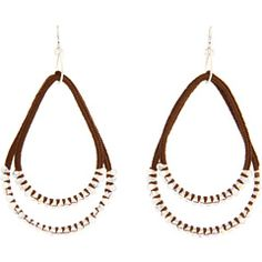 55% Off Now $96.99 #ChanLuu - Howlite and Crystal Mix Large Tear Earring (Howlite Mix) - #Jewelry http://www.freeprintableshoppingcoupons.com #Earrings