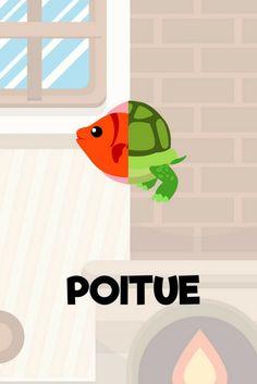 Le poitue, le premier poisson à queue de tortue. Zappiland une application enfant trop drôle pour jouer avec les animaux http://app-enfant.fr/application/cree-tes-propres-animaux-avec-zappiland/