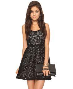 black lacy dress
