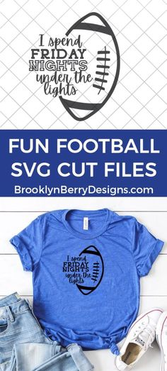 Friday Nights Under The Lights SVG Football Shirt Designs, Football Shirts, Friday Night Lights Shirt, Sundays Are For Football, Diy Vinyl Projects, Free Football, Football Team, Friday Nights, Cricut Craft Room