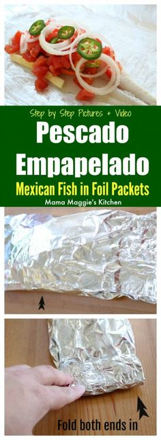 Pescado Empapelado (Mexican Fish in Foil Packets) is a dish that will make you wish for more. It's perfect for Fish Fridays, summer grilling, and makes a yummy, healthy dinner option. via @maggieunz