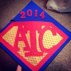 Graduation Cap Decorations, I used ATC for my credentials.