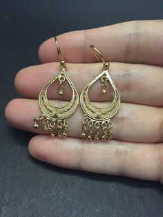 Gold over Sterling silver handmade earrings solid 925 silver