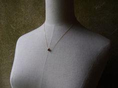 Raw Garnet Necklace January Birthstone by SanctuaryJewellery
