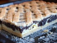 Tvarohovo-makový mřížkový koláč - My WordPress Website Slovakian Food, Sweet Recipes, Cake Recipes, Czech Recipes, Desert Recipes, Amazing Cakes, Sweet Tooth, Bakery, Food And Drink