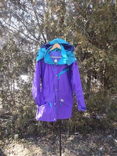 Sierra Designs Windbreaker Vintage Windbreaker Purple Blue Stripes Pullover Jacket Discounted Size Medium to XL Vintage Womens Windbreak - Women Windbreakers - Ideas of Women Windbreakers Nike Windbreaker Womens, Vintage Windbreaker, Anorak Jacket, Windbreaker Jacket, Jackets Uk, Jackets For Women, Blazer With Jeans, Wind Jacket, Faux Fur Jacket