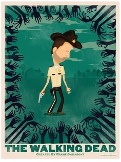 The Walking Dead Illustration by Gabriel Gamio, via Behance