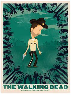The Walking Dead Illustration by Gabriel Gamio, via Behance