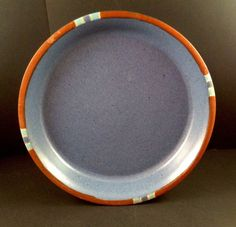 "Dansk Salad Plate Mesa Sky Blue Bread 7 1/4"" Round #Dansk"