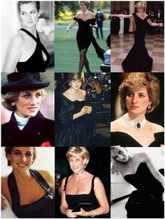 Princess Diana in Black.