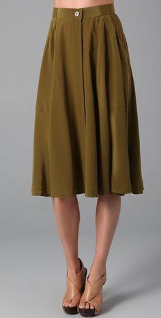 Madewell Draped Military Skirt | SHOPBOP