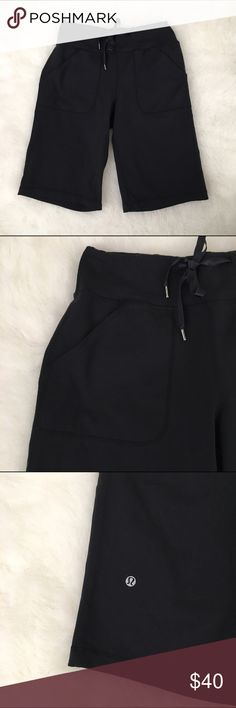 Lululemon Long Workout Shorts 🌑 Lululemon Long Workout Shorts 🌑 Size: 2 Length: 20in Inseam: 11in Condition: Excellent Lululemon Long Workout Shorts with pockets. Features an elastic waistband and made out of 87%Nylon & 13%Spandex for mobility. Item is in excellent condition no holes, stains or tears.  In Bin: PD **All items from my closet come from a SMOKE FREE home**🙅🏽😊 lululemon athletica Shorts