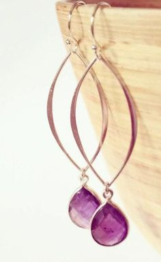 purple amethyst stone earrings