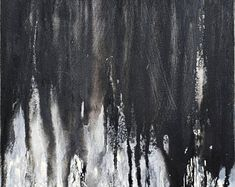 Original Rustic Texture Abstract Painting 24 x 30 Modern Flow Painting, Drip Painting, Texture Painting, Painting Abstract, Black And White Painting, Black And White Abstract, Neal Art, Minimalist Painting, Popular Art