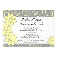 See MoreBridal Shower Invitation yellow and grey floralin each seller & make purchase online for cheap. Choose the best price and best promotion as you thing Secure Checkout you can trust Buy best