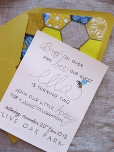 paper & ink: bee themed birthday party