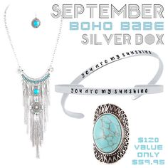*September Boho Silver Box