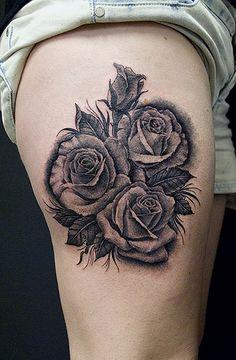 roos tattoo voorbeelden   Rozen - www.Tattoo-Holland.nl