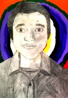 Junior High Self Portraits | Lessons from the K-12 Art Room