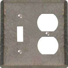 Hammered Satin Nickel Light Switch Plates, Outlet Covers, Wallplates
