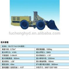 Suitable for mining and roadway drivage slag, the construction of the road and work place, material transportation and so on.