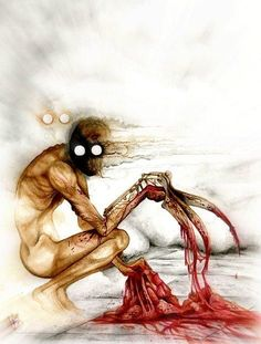 The Rake Artwork - Creepypasta Wiki.